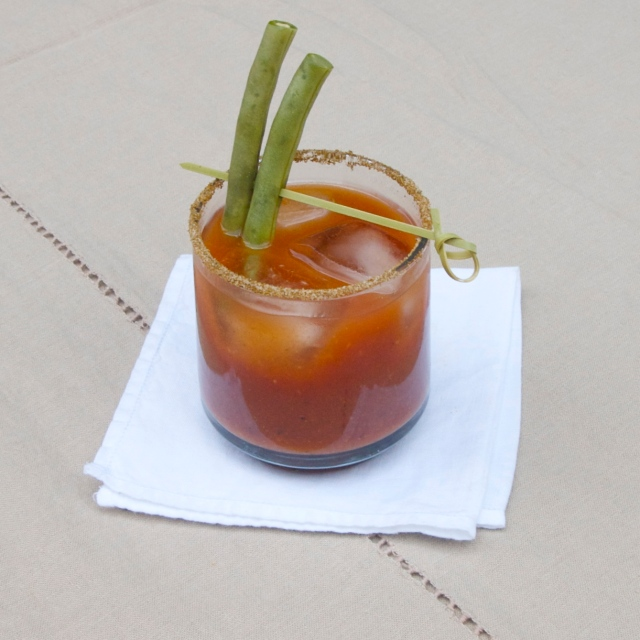 pickled green bean bloody mary