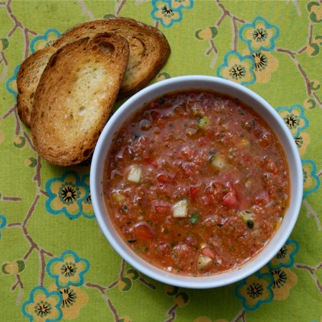 cold summer vegetable soup