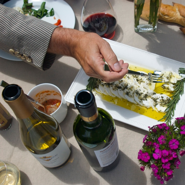 rosemary garlic infused olive oil chevre