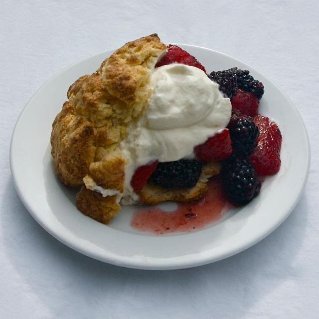 tender shortcake whipped cream berries