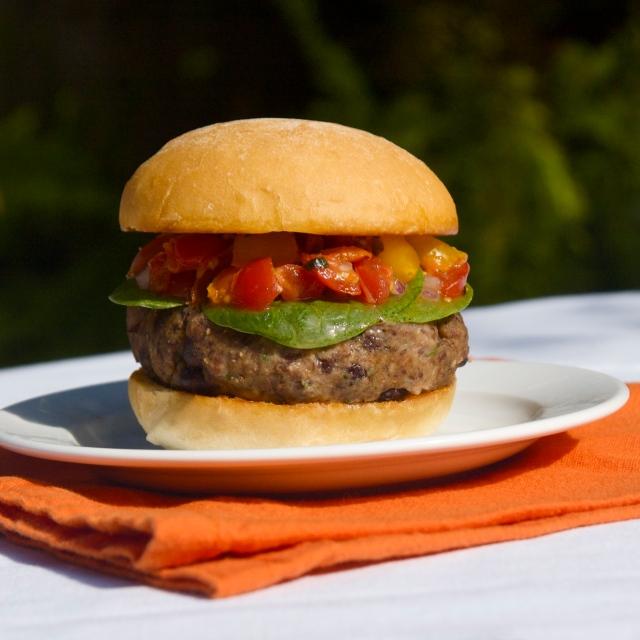 homemade vegetarian burger