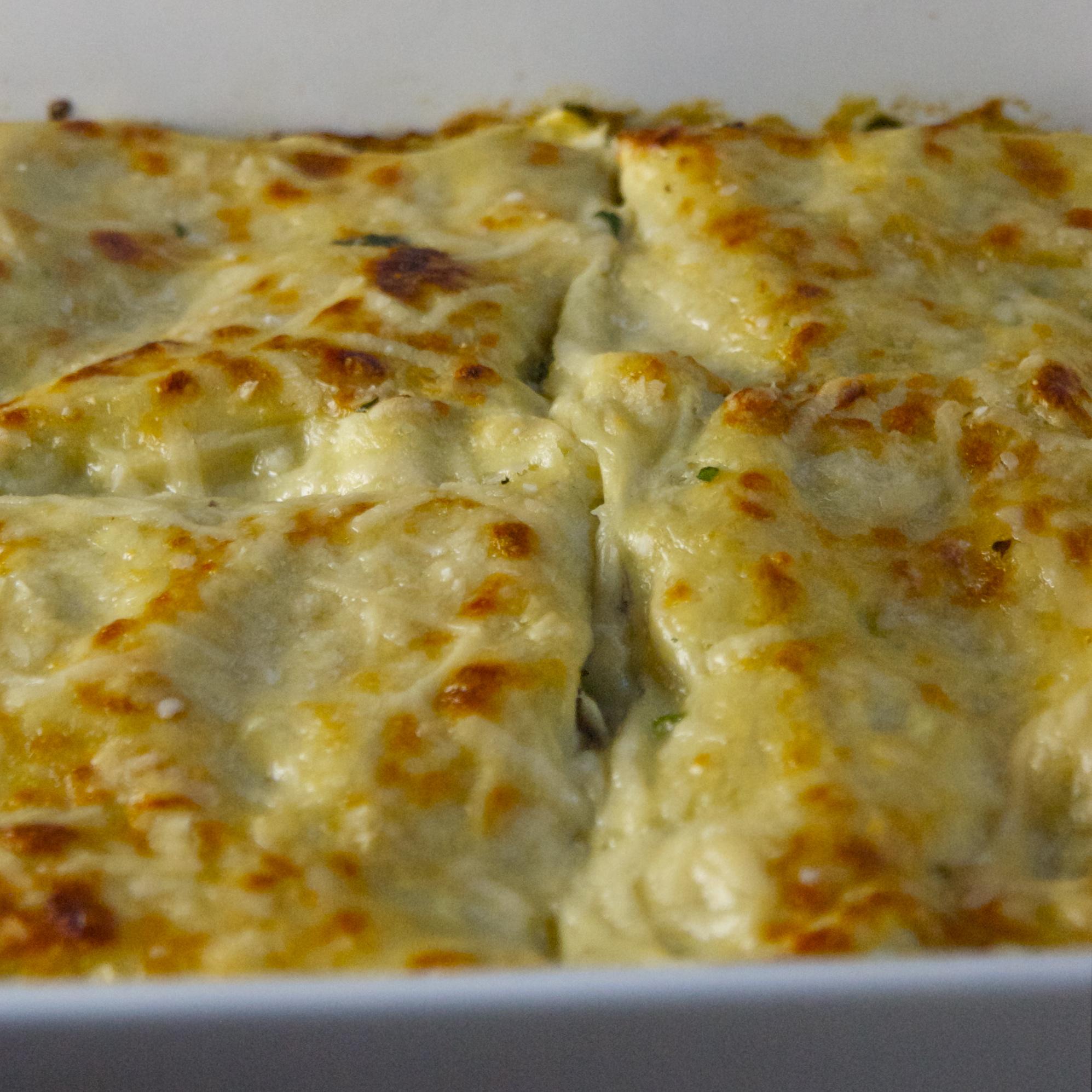 Spinach  Mushroom Lasagna scarpetta dolcetto