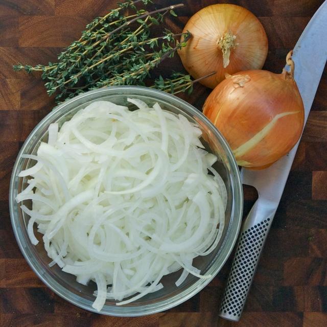 onion mis en place