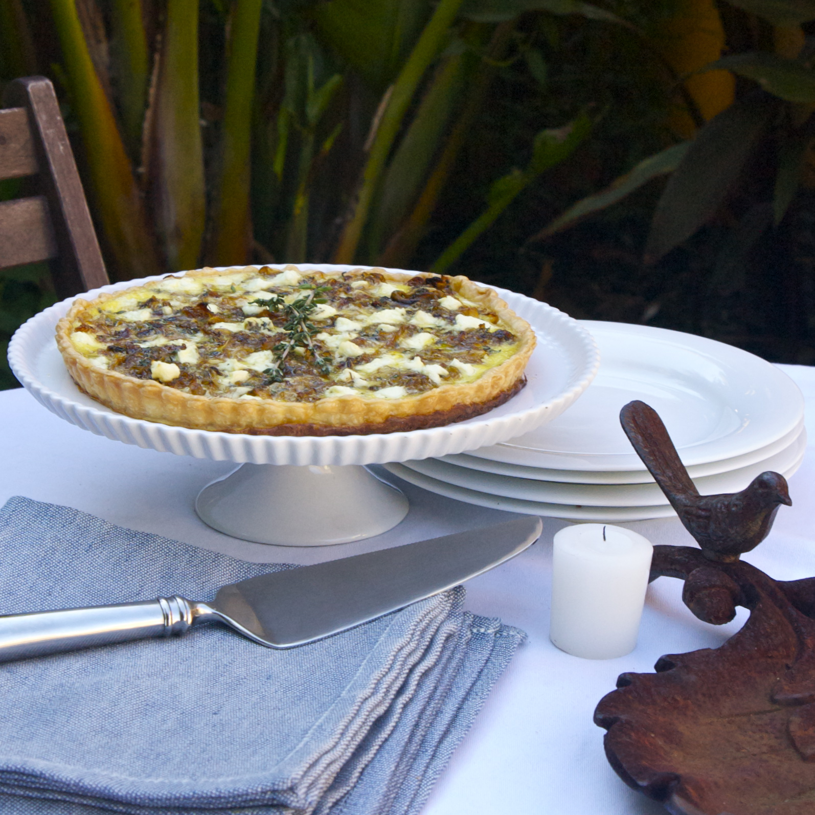 Caramelized Onion & Goat Cheese Tart | scarpetta dolcetto