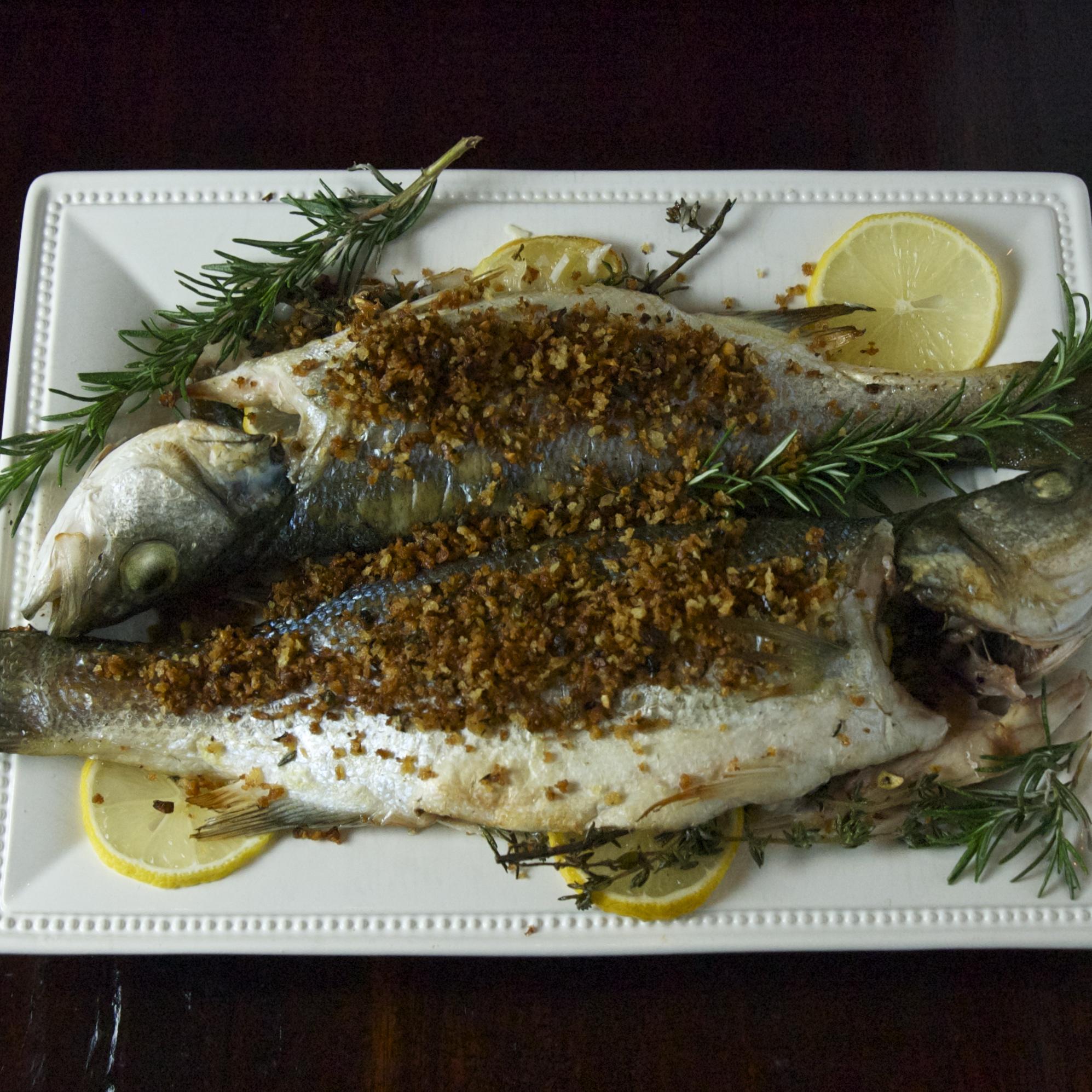 Roasted branzino scarpetta dolcetto for Branzino fish recipes