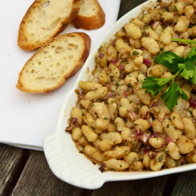 herb white bean bruschetta