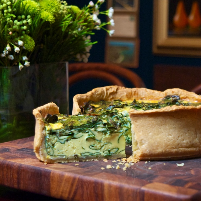 swiss chard quiche
