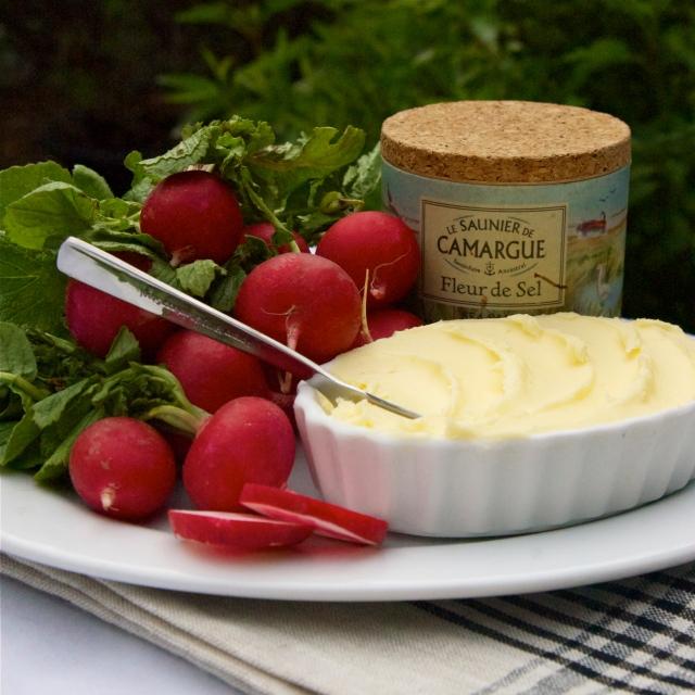 radishes homemade butter