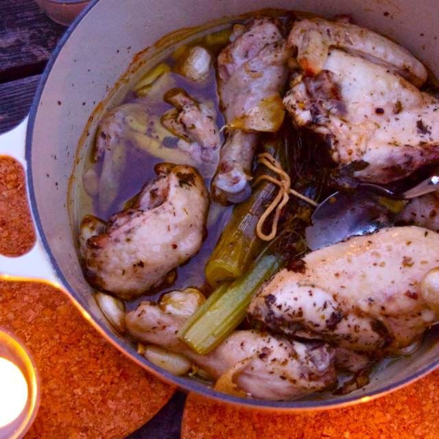 Richard Olney's Garlic Chicken