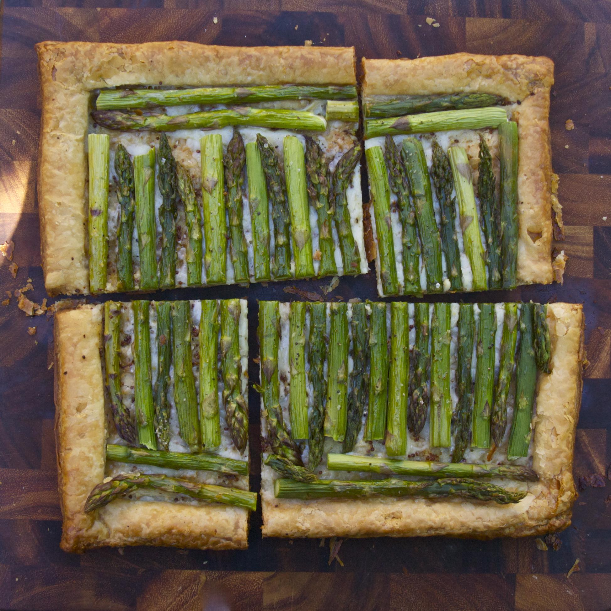 Asparagus Gruyère Tart | scarpetta dolcetto