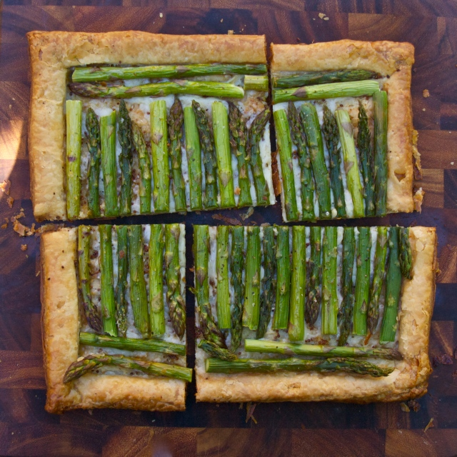 puff pastry dough asparagus tart