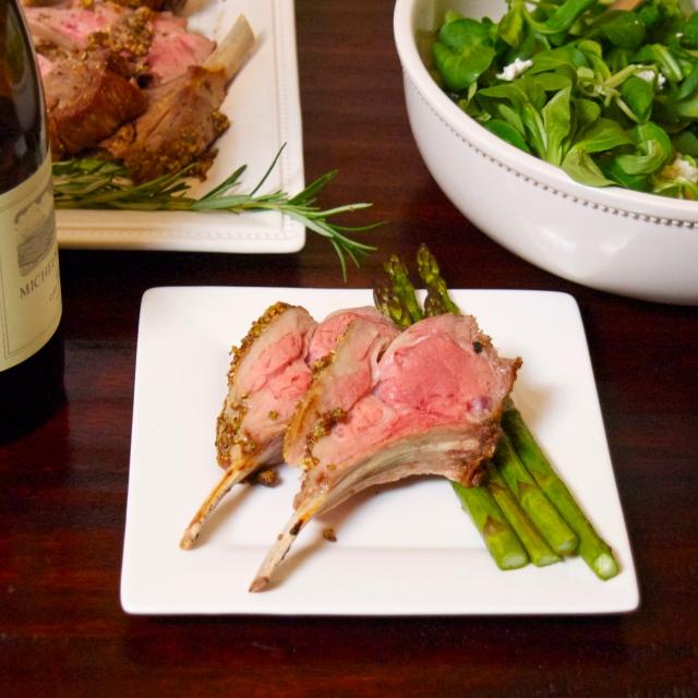 medium rare lamb chops