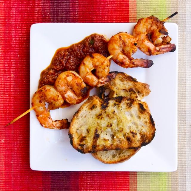 griled shrimp romesco